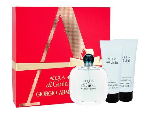 Giorgio Armani Acqua di Gioia EDP dárková sada pro ženy - EDP 100 ml + tělové mléko 75 ml + sp