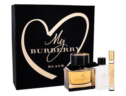 Burberry My Burberry Black parfém dárková sada pro ženy - parfém 90 ml + tělové mléko 75 ml + parfém 7,5 ml