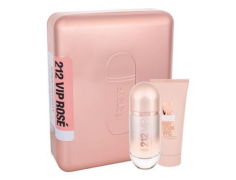Carolina Herrera 212 VIP Rosé EDP dárková sada pro ženy - EDP 80 ml + tělové mléko 100 ml