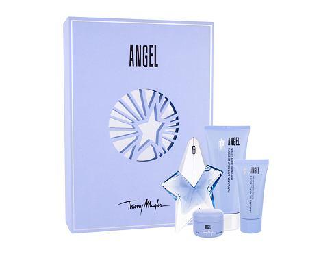 Thierry Mugler Angel EDP dárková sada Naplnitelný pro ženy - EDP 25 ml + tělové mléko 100 ml + sprchový gel 30 ml + tělový krém 15 ml
