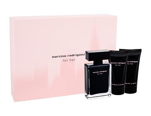 Narciso Rodriguez For Her EDT dárková sada pro ženy - EDT 50 ml + tělové mléko 50 ml + sprchový gel 50 ml