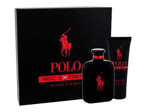 Ralph Lauren Polo Red Extreme parfém dárková sada pro muže - parfém 125 ml + sprchový gel 100 ml