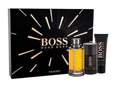 HUGO BOSS Boss The Scent EDT dárková sada pro muže - edt 100 ml + sprchový gel 50 ml + deostick 75 ml