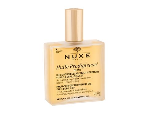 Tělový olej NUXE Huile Prodigieuse Riche Multi Purpose Dry Oil Face, Body, Hair 100 ml