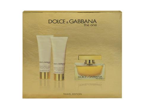 Dolce&Gabbana Dolce&Gabbana The One EDP dárková sada pro ženy - EDP 75 ml + tělové mléko 50 ml + sprchový gel 50 ml
