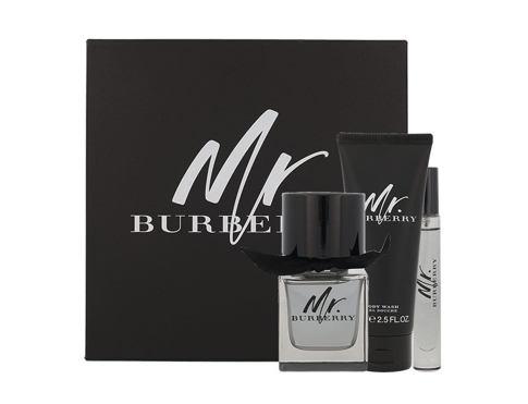Burberry Mr. Burberry EDT dárková sada pro muže - EDT 50 ml + sprchový gel 75 ml + EDT 7,5 ml