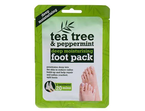 Xpel Tea Tree Tea Tree & Peppermint Deep Moisturising Foot Pack 1 ks krém na nohy pro ženy