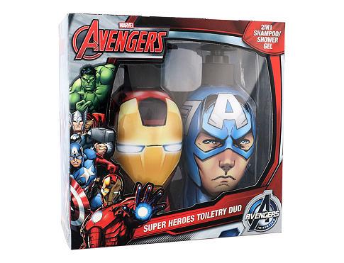Marvel Avengers Iron Man & Captain America šampon dárková sada unisex - šampon & sprchový gel 2v1 Iron Man 300 ml + šampon & sprchový gel 2v1 Captain America 300 ml