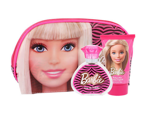 Barbie Barbie EDT dárková sada unisex - EDT 50 ml + tělové mléko 100 ml + kosmetická taška