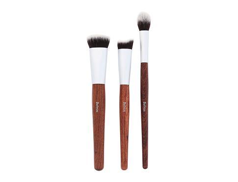 Sefiros Brushes Red Wood Contouring Brush štětec dárková sada pro ženy - kosmetický štětec 3 ks
