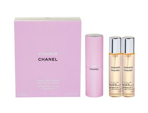 Chanel Chance 3x 20 ml 20 ml EDT Twist and Spray pro ženy