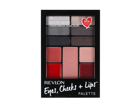 Revlon Eyes, Cheeks + Lips dekorativní kazeta dárková sada 200 Seductive Smokies pro ženy - Complete Make-up Palette