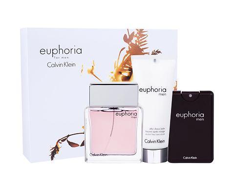 Calvin Klein Euphoria Men EDT dárková sada pro muže - EDT 100 ml + balzám po holení 100 ml + EDT 20 ml
