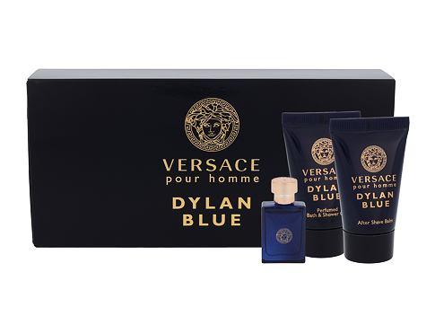 Versace Pour Homme Dylan Blue EDT dárková sada pro muže - EDT 5 ml + sprchový gel 25 ml + balzám po holení 25 ml