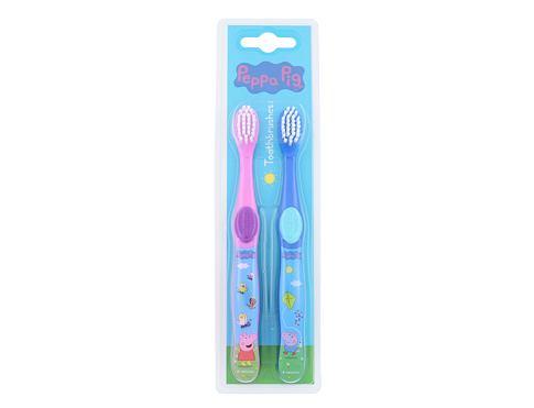 Peppa Pig Peppa zubní kartáček dárková sada unisex - zubní kartáček 2 ks