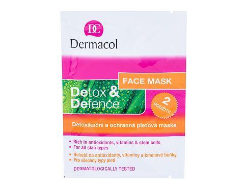 Dermacol Detox & Defence 16 g pleťová maska pro ženy