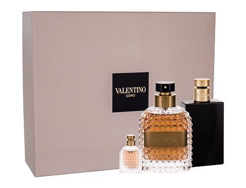 Valentino Valentino Uomo EDT dárková sada pro muže - EDT 100 ml + balzám po holení 100 ml + EDT 4 ml