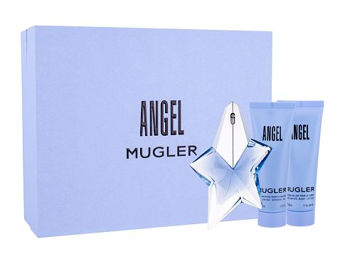 Thierry Mugler Angel EDP dárková sada Naplnitelný pro ženy - EDP 25 ml + tělové mléko 50 ml + sprchový gel 50 ml