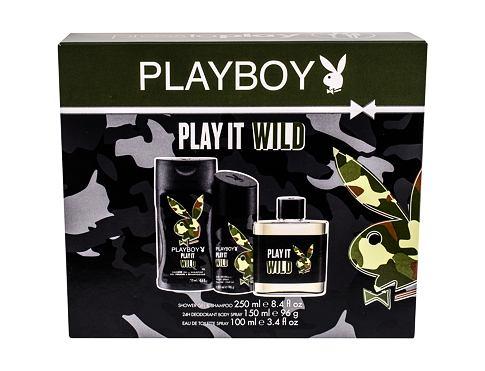 Playboy Play It Wild For Him EDT dárková sada pro muže - EDT 100 ml + sprchový gel 250 ml + deodorant 150 ml