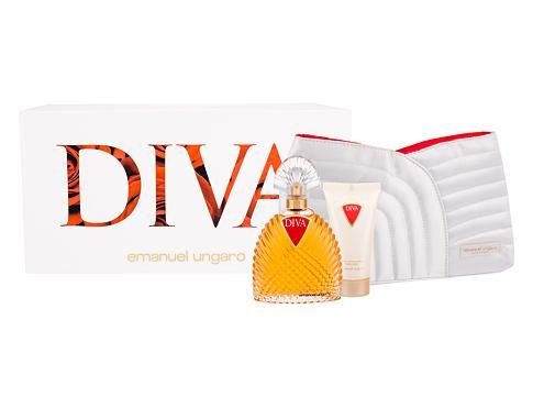 Emanuel Ungaro Diva EDP dárková sada pro ženy - EDP 100 ml + tělové mléko 50 ml + kosmetická taška