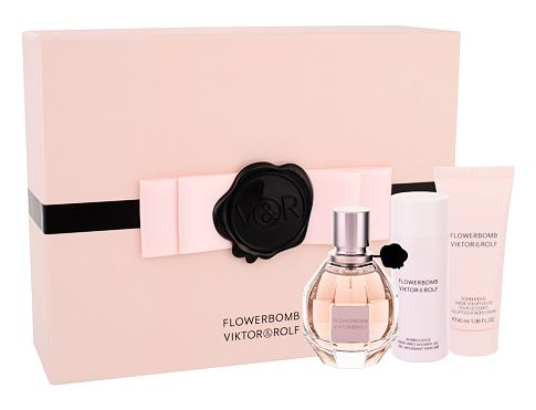 Viktor & Rolf Flowerbomb EDP dárková sada pro ženy - EDP 50 ml + sprchový gel 50 ml + tělový krém 40 ml