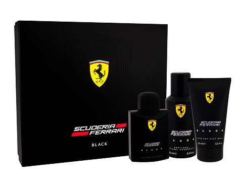Ferrari Scuderia Ferrari Black EDT dárková sada pro muže - EDT 125 ml + sprchový gel 150 ml + deodorant 150 ml