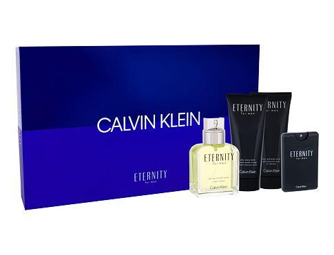 Calvin Klein Eternity For Men EDT dárková sada pro muže - EDT 100 ml + EDT 20 ml + balzám po holení 100 ml + sprchový gel 100 ml