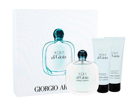 Giorgio Armani Acqua di Gioia EDP dárková sada pro ženy - EDP 100 ml + tělové mléko 75 ml + sprchový gel 75 ml