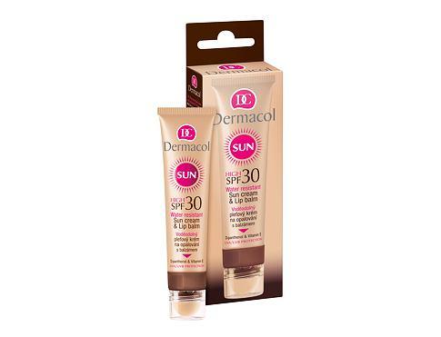 Dermacol Sun Cream & Lip Balm SPF30 30 ml opalovací přípravek na obličej voděodolná pro ženy