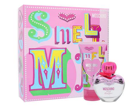 Moschino Pink Bouquet EDT dárková sada pro ženy - EDT 30 ml + tělové mléko 50 ml