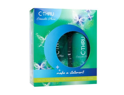 C-THRU Emerald Shine EDT dárková sada pro ženy - EDT 30 ml + deodorant 150 ml