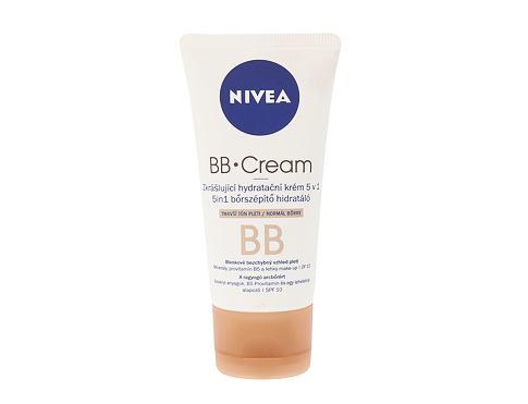 Nivea BB Cream 5in1 Beautifying Moisturizer, SPF10 50 ml bb krém Medium To Dark pro ženy