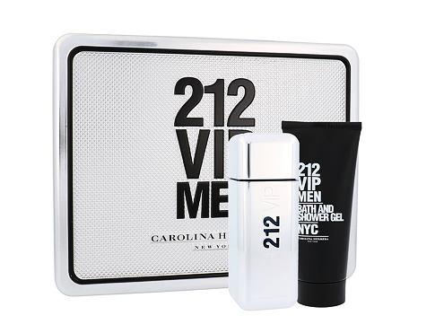 Carolina Herrera 212 VIP Men EDT dárková sada Poškozená krabička pro muže - EDT 100 ml + sprchový gel 100 ml