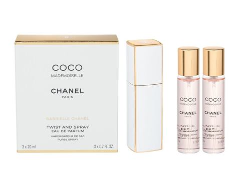 Chanel Coco Mademoiselle 3x 20 ml 3x20 ml EDP Twist and Spray pro ženy