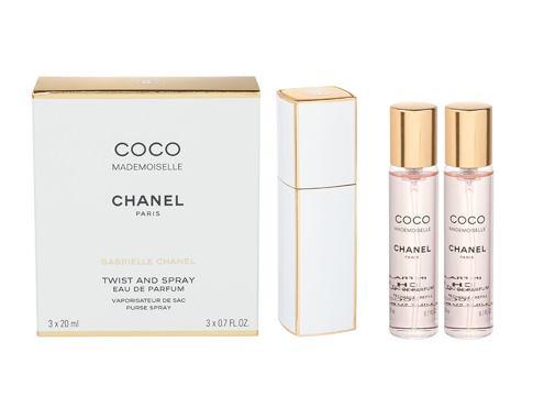 Chanel Coco Mademoiselle 3x 20 ml 3x20 ml EDP Twist and Spray pro ženy
