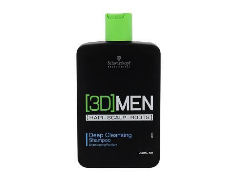 Schwarzkopf 3DMEN Deep Cleansing 250 ml šampon pro muže