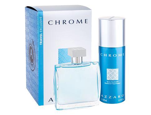 Azzaro Chrome EDT dárková sada pro muže - EDT 100 ml + deodorant 150 ml