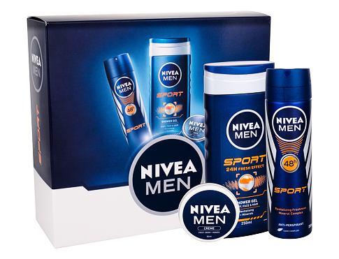 Nivea Men Sport sprchový gel dárková sada pro muže - sprchový gel 250 ml + anti-perspirant 150 ml+ univerzální krém Men Creme 30 ml