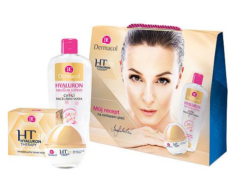 Dermacol 3D Hyaluron Therapy denní pleťový krém dárková sada pro ženy - denní pleťová péče 50 ml + čisticí micelární voda 400 ml