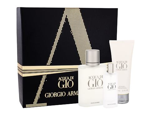 Giorgio Armani Acqua di Gio Pour Homme EDT dárková sada pro muže - EDT 100 ml + EDT 15 ml + sprchový gel 75 ml
