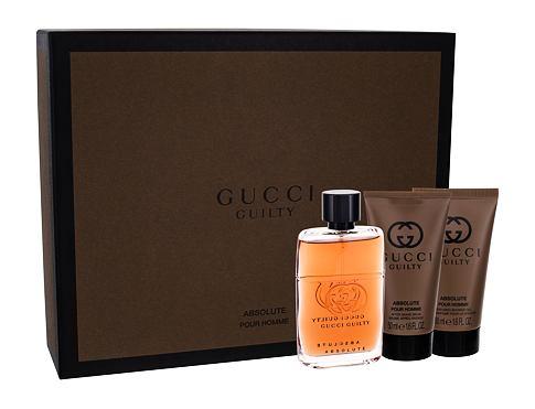 Gucci Guilty Absolute Pour Homme EDP dárková sada pro muže - EDP 50 ml + balzám po holení 50 ml + sprchový gel 50 ml
