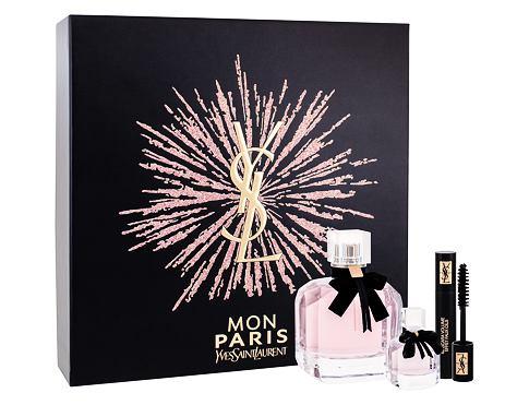 Yves Saint Laurent Mon Paris EDP dárková sada pro ženy - EDP 90 ml + EDP 7,5 ml + řasenka Volume Effet Faux Cils No1 2 ml