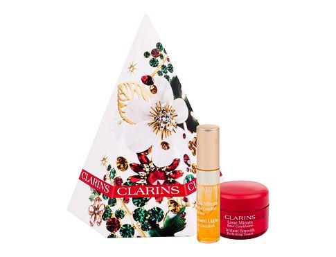 Clarins Instant Smooth podklad pod makeup dárková sada pro ženy - podkladová báze 4 ml + péče o rty Instant Light Lip Comfort Oil 2,8 ml 01 Honey