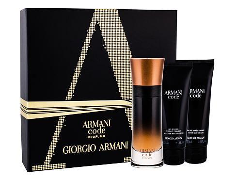 Giorgio Armani Code Profumo EDP dárková sada pro muže - EDP 60 ml + sprchový gel 75 ml + balzám po holení 75 ml
