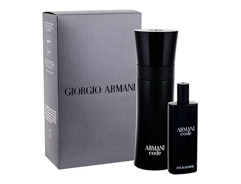 Giorgio Armani Armani Code Pour Homme EDT dárková sada Poškozená krabička pro muže - EDT 75 ml + EDT 15 ml