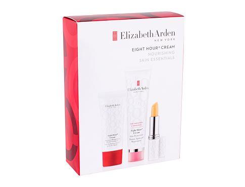 Elizabeth Arden Eight Hour Cream Skin Protectant denní pleťový krém dárková sada pro ženy - denní pleťová péče 50 ml + hydratační péče o ruce 30 ml + hydratační péče na rty SPF15 3,7 g