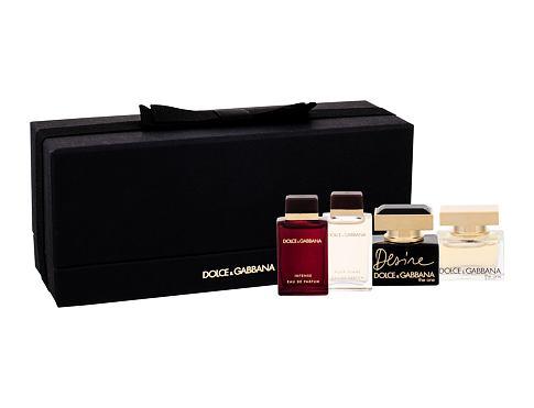Dolce&Gabbana Mini Set EDP dárková sada pro ženy - edp The One 5 ml + edp Pour Femme 4,5 ml + edp Pour Femme Intense 4,5 ml + edp Desire 5 ml
