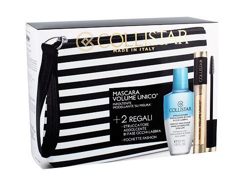 Collistar Volume Unico řasenka dárková sada Intense Black pro ženy - řasenka 13 ml + odličovací přípravek Gentle Two Phase 50 ml + kosmetická taška